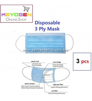 3pcs 3 ply Disposable Surgical Face Mask - ear loop - anti Haze