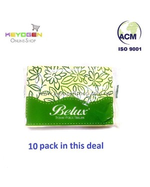 FREE SHIPPING Keyogen Large Natural Pulp Travel Pack Tissue 14cmx19cm (50'sx10 pack) #MYCYBERSALE