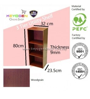 FREE SHIPPING 3 Tier wooden multipurpose Utility storage shelf organiser box rack #MYCYBERSALE