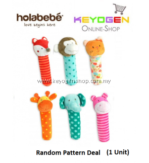 ( flash sale )Holabebe Hola Rattles Stick Toy T265 (Random Pattern Deal)