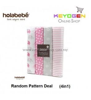 ( flash sale )Holabebe 4in1 Set Blanket A498 (Random Pattern Deal)