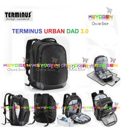2018 NEW! TERMINUS URBAN DAD 3.0 (NEW) Stylish Diaper Backpack for baby infant diapers storage bag - 1 Year Warranty (BLACK COLOR)