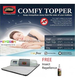 FREE DELIVERY Goodnite Anti Mosquito Comfy Mattress Topper FREE repellent - 4 option