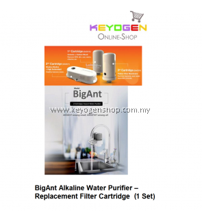 BigAnt (REPLACEMENT) Alkaline Water Purifier– Filter Cartridge (1 set)