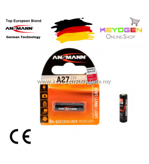Ansmann Alkaline Battery A27 / LR27 - GERMAN TECHNOLOGY (1516-0001)