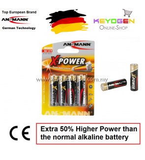 Ansmann X-Power Alkaline Battery AA / LR6 (4 pcs) GERMAN TECHNOLOGY (5015663)