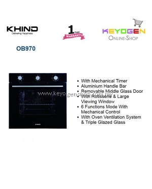 KHIND Built-in Oven 0B970 with 6 Functions Mode With Mechanical Control