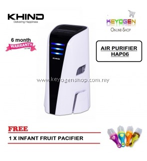 ( Flash Sale ) Khind Desktop Air Purifier HAP06 with ECO Friendly Technology - Free Fruit Pacifier