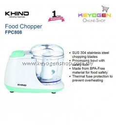 KHIND Food Chopper FPC808 - Made from BPA-Free material