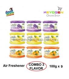 Goodmaid Air Freshener Lavender + Orange + Lemon 100g x 9 Gel (3-in1) COMBO PACK