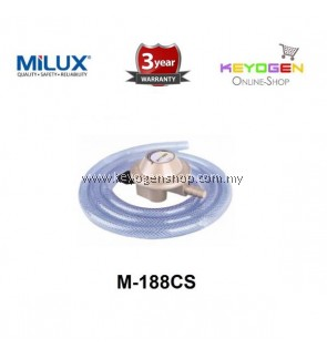 Milux Gas Regulator M-188CS (Low Pressure) 1.5m Hose 3 years warranty