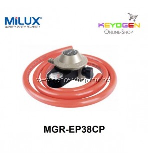 Milux Gas Regulator MGR-EP38CP (Low Pressure) 1.5m Hose -1 Year wrty