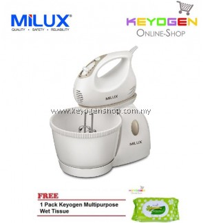 MILUX 2-In-1 Stand Mixer MSM-9901 FREE 1 Pack Keyogen Multipurpose wet Tissue 80pcs per pack