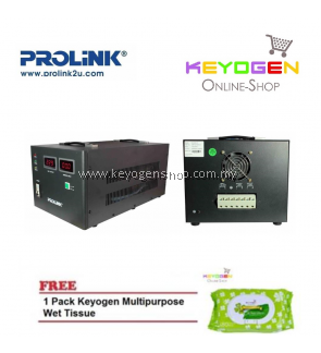 PROLiNK PVS10001CD 10KVA Precision Full-Automatic Voltage Regulator FREE 1 Pack Keyogen Multipurpose wet Tissue 80pcs per pack