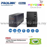 PROLiNK PRO1201SFC 1200VA UPS with AVR FREE 1 Pack Keyogen Multipurpose wet Tissue 80pcs per pack