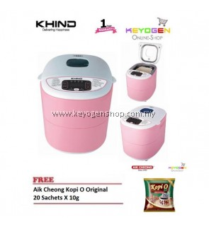 KHIND Bread Maker BM750 COMBO 1 Pack Kopi Original 20 sachet x 10g- 1 Year Warranty FREE Recipe Book and Glove