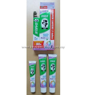 Darlie Toothpaste Double Action Mint Multicare Super Saver BUY 2 X 180g FREE 1 X 80g 8 in 1 Complete Protection Toothpaste - Solve Multiple Oral Problems with Just One Toothpaste