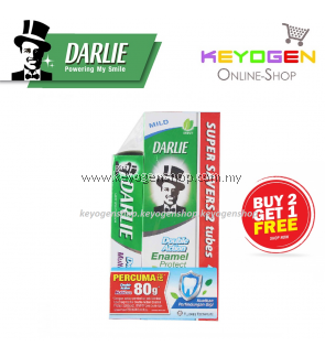 Darlie Toothpaste Enamel Protect Mild Mint BUY 2 X 200g FREE 1 X 80g Double Action Mint Multicare