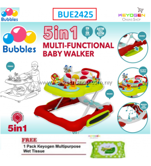 Bubbles 5 in 1 Baby Learn2Walk Walker Carnival Multi Functional walker FREE 1 Pack Keyogen Multipurpose wet Tissue 80pcs per pack