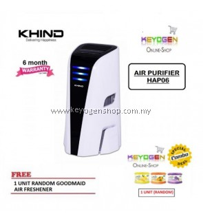 ( Flash Sale ) Khind Desktop Air Purifier HAP06 with ECO Friendly Technology FREE 1 Unit Random Goodmaid Air Freshener