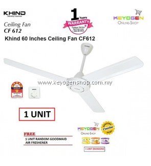 KHIND CF612 Ceiling Fan (1 Unit ) with Safety wire provides extra protection FREE 1 Unit Random Goodmaid Air Freshener