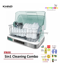 NEW KHIND BD919 Dish Dryer with extra cutlery holder FREE 5in1 Cleaning Combo Goodmaid Bio Dishwashing Liquid 1L