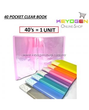 PP Clear Holder 40's A4- 40 Pocket (1 Unit) (Random Colour)