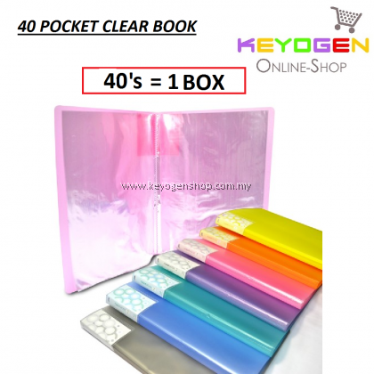 PP Clear Holder 40's (Mix Colour) / 1 box (12 unit)