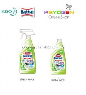 Magiclean Kitchen Trigger Green Apple + Refill Combo (500ml + 500ml)