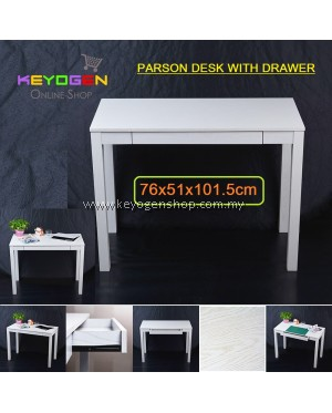 Keyogen Parson Writing Desk With Drawer 76x51x101.5cm for office, home, school, factory etc - WHITE