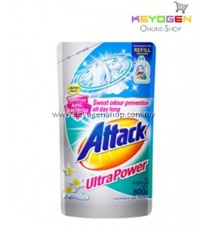 Attack Liquid Detergent Ultra Power Refill 800g