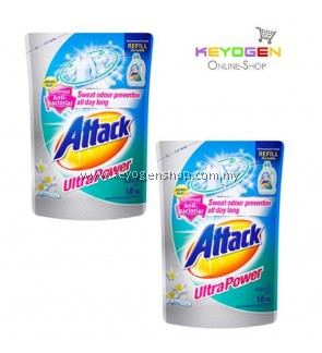 Attack Liquid Detergent Ultra Power Refill ( TWINPACK ) 1.6kg