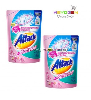 Attack Liquid Detergent Plus Softener Refill ( TWINPACK ) 1.4kg