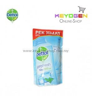 Dettol Body Wash Cool Refill Pouch Pek Jimat 1x800g