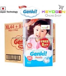 GENKI diaper pant New Launching on Oct 2019 1 Mega pack XL size 44pcs FREE 8pcs - Japan technology