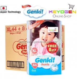GENKI diaper pant New Launching on Oct 2019 1 Mega pack XL size 44pcs FREE 8pcs - Japan technology