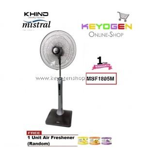 KHIND Mistral Stand Fan MSF1805M(STANLEY) 3 Speed On - 1 Year Warranty FREE 1 Unit Air Freshener (Random)