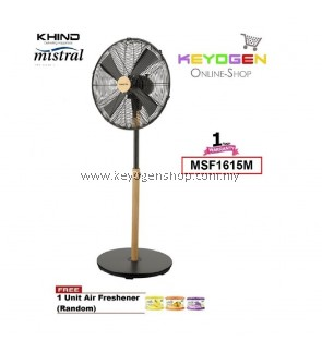 KHIND Mistral Stand Fan MSF1615M (STANO) 3 Speed On - 1 Year Warranty FREE 1 Unit Air Freshener (Random)