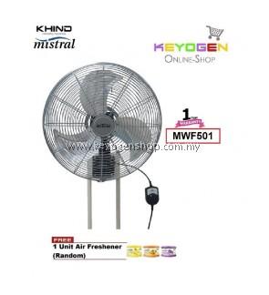 KHIND Mistral Industrial Wall Fan MWF501-3 Speed-1 Year Warranty FREE 1 Unit Air Freshener (Random)