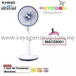 KHIND Mistral Stand Air Circulator MACD9001- 12 Wind Speed Adjustment- 1 Year Warranty FREE 1 Unit Air Freshener (Random)