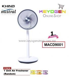 KHIND Mistral Stand Air Circulator MACD9001- 12 Wind Speed Adjustment- 1 Year Warranty FREE 1 Unit Air Freshener (Random)