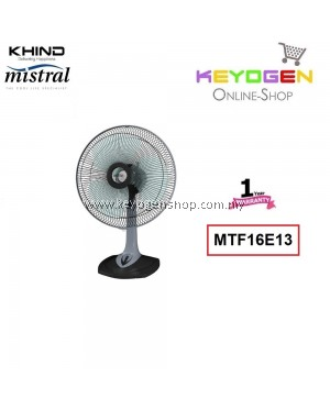 KHIND Mistral Table Fan MTF16E13- 3 Speed On / Off Push Button Switch 1 Year Warranty