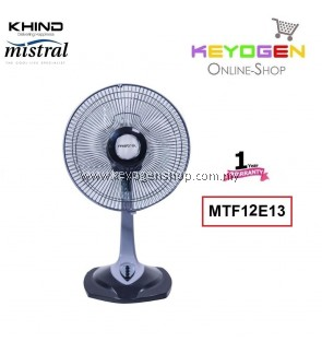 KHIND Mistral Table Fan MTF12E13 - 3 Speed On / Off Push Button Switch 1 Year Warranty
