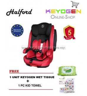 Halford Kitz Booster Seat - Red FREE 1 Unit Keyogen Wet Tissue + 1 pc Kid Towel- 5 Year Warranty