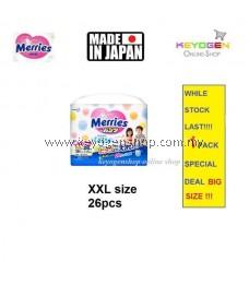 Super Jumbo Pack Made in Japan - 1 Pack XXL size 26 pcs Merries baby premium grade walker pant diapers - extra comfort (BIG SIZE)