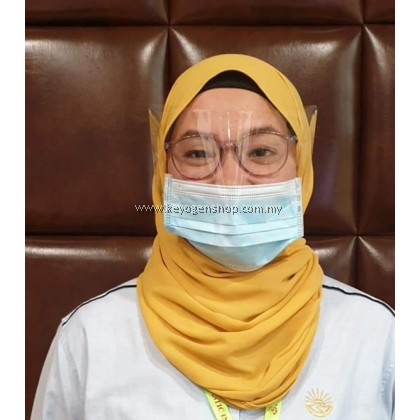 Benxon Face Mask -MADE IN MALAYSIA - 1 pcs 3 ply Disposable Surgical Face Mask with Shield- non woven - ear loop - anti Haze - help to protect eye