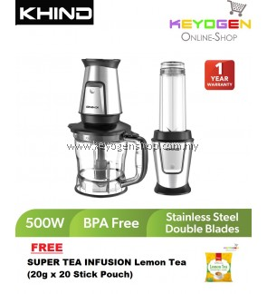 (Free Shipping) (READY STOCK) KHIND MULTI BLENDER CHOPPER BLC129 FREE 1 Pack  SUPER TEA INFUSION Lemon Tea (20g x 20 Stick Pouch)