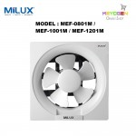 "Milux Wall Mounted Exhaust Ventilation Fan 8"" MEF-0801M"