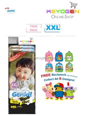 Genki! X Didi & Friends SPECIAL AUGUST 2020 Baby diaper PANT 2 PACK Mega pack XXL size 36pcs - Japan technology WOW JIMAT TWINPACK- 6 Design to collect while stock lasts!!!