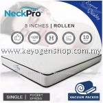 NeckPro Rollen (Single) Compressed & Rolled Pocketed Spring Mattress (8 Inch Thickness) (10 Years Warranty)